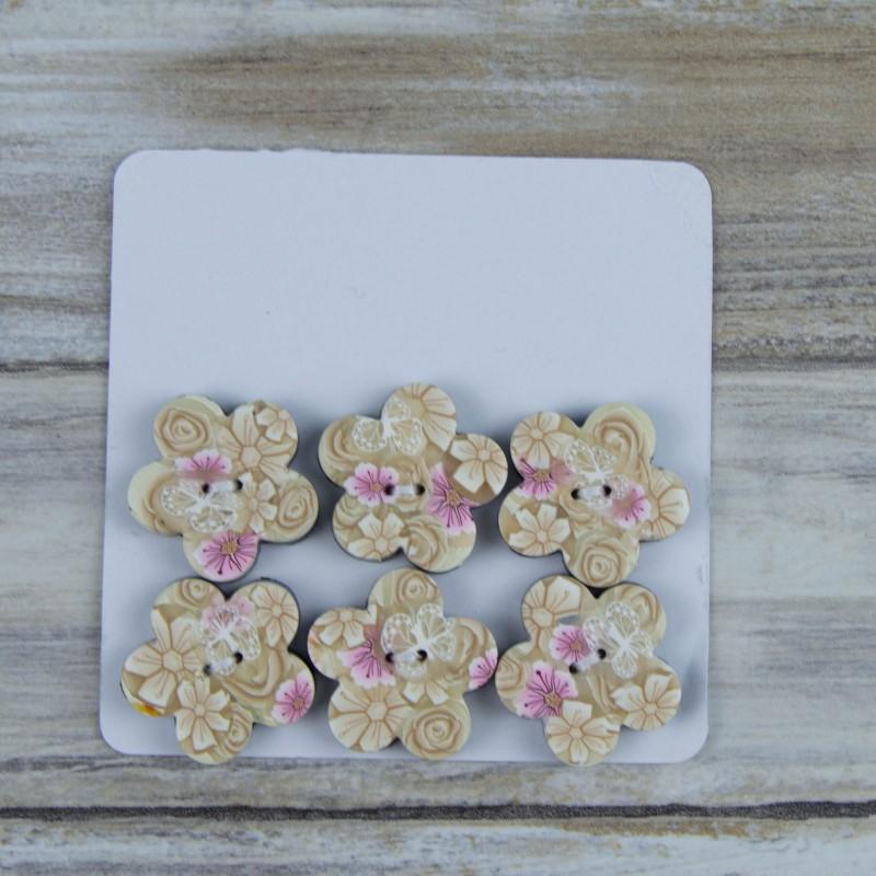 boutons originaux, forme de fleur