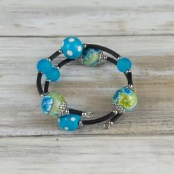bracelet fils mémoire de forme, collection tropique