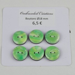 Boutons couture, fond vert...