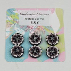 Boutons couture, fleur...